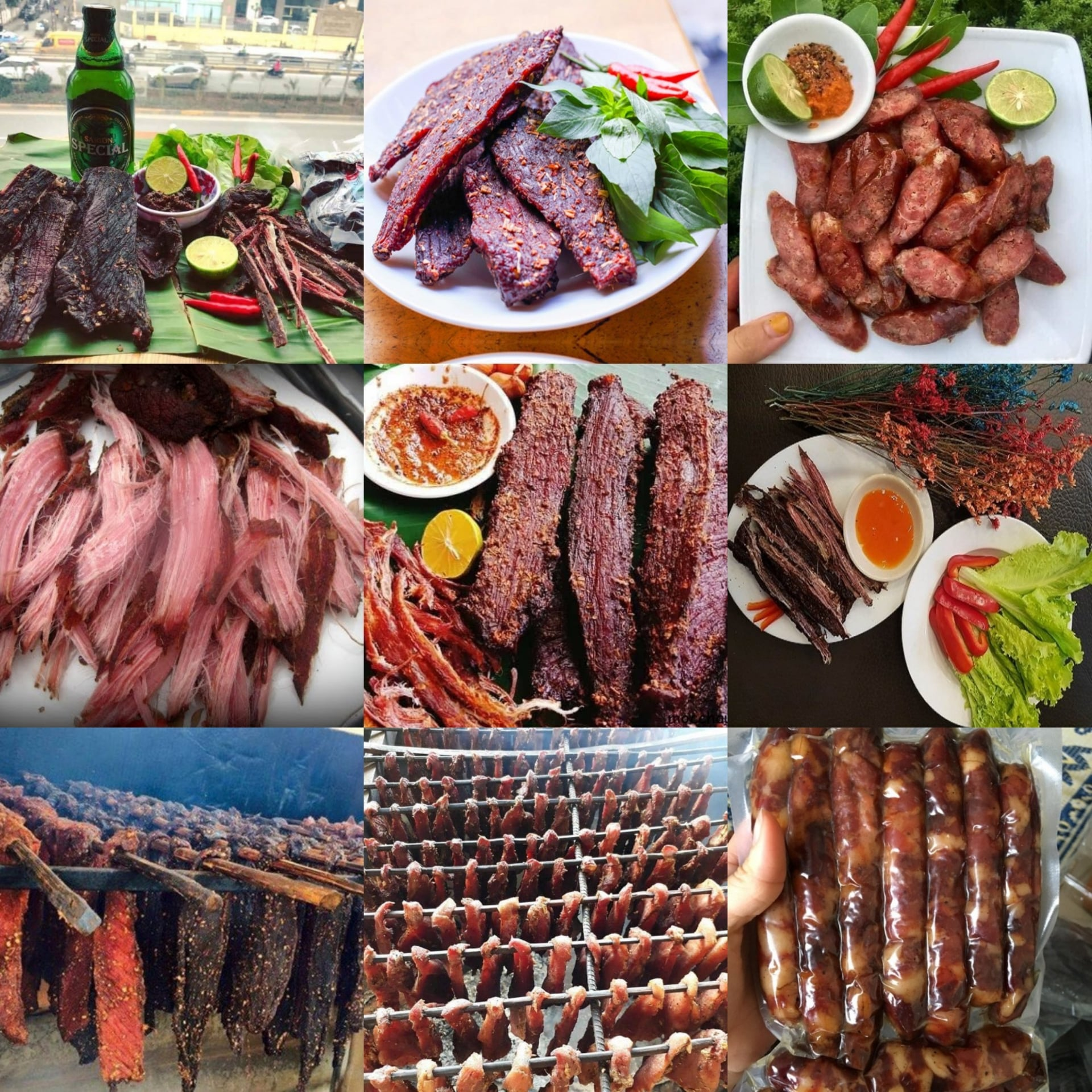 Thịt bò gác bếp sau 2 tháng được đem ra đãi khách