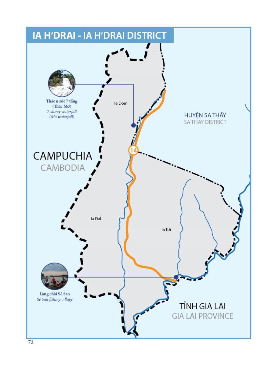 Bản đồ du lịch huyện Ia H'Drai