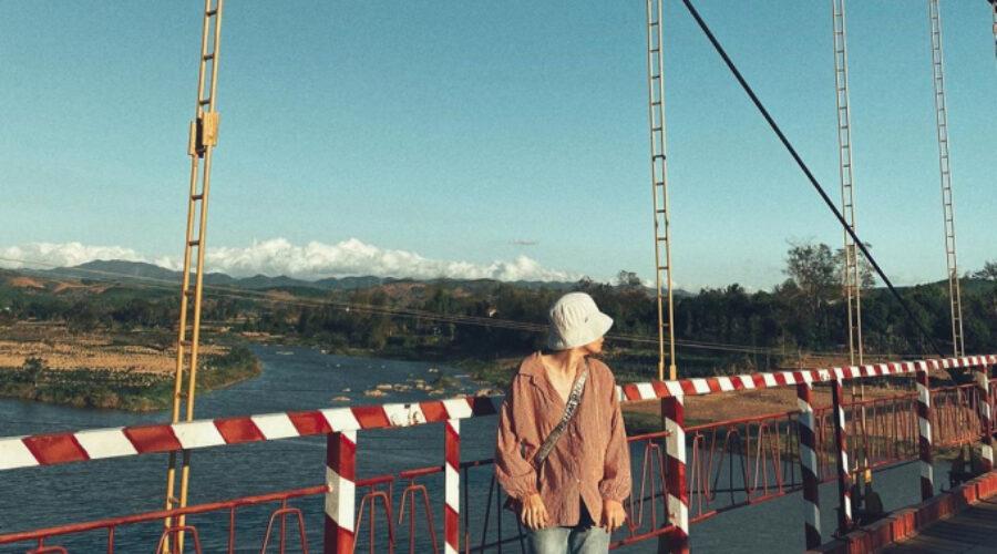 Cầu treo Kon Klor – 'Dải lụa' màu cam bên dòng Đắk Bla